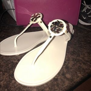 Used jelly miller Tory butch sandals